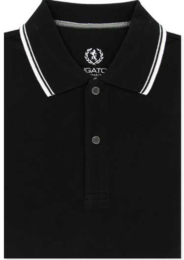 Bugatchi Men S Black Cotton Polo Shirt Short Sleeve L Large