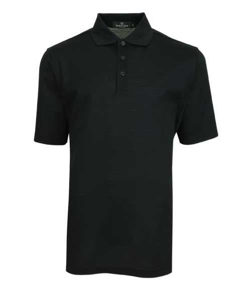 mercerized polo shirt with waffle