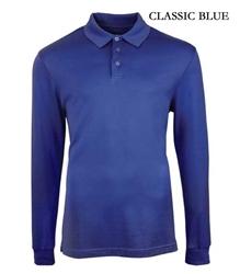 classic blue polo shirt