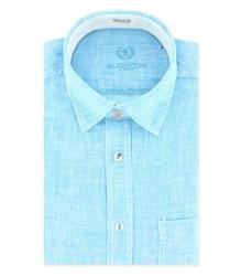 mens long sleeve linen shirt bugatchi uomo